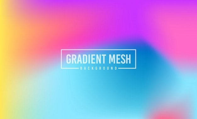 Abstract blurred gradient colorful background