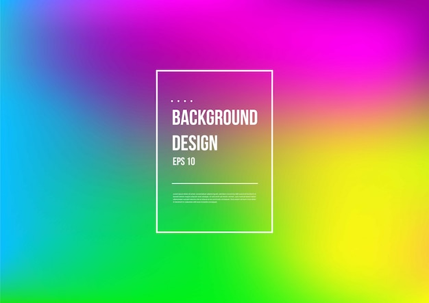 Abstract blurred gradient mesh background in bright colorful smooth