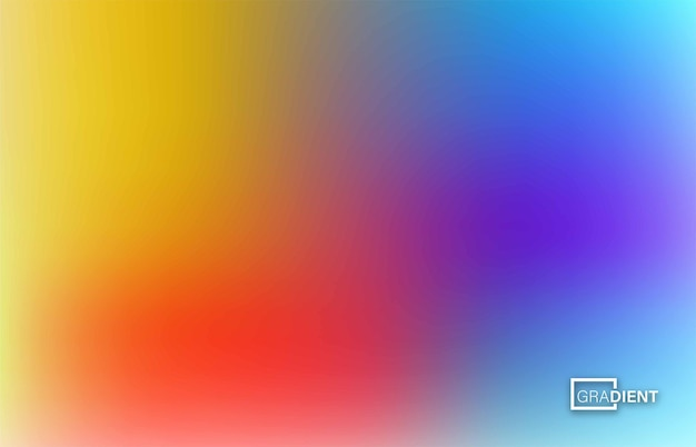 Abstract blurred gradient mesh background in bright rainbow colors, vector illustration.