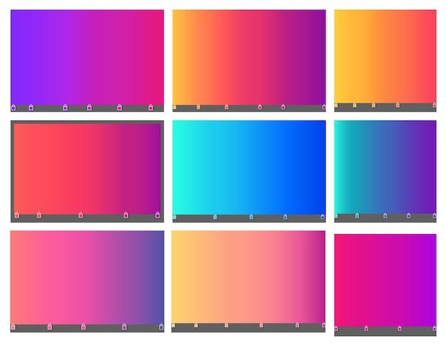 明るくカラフルな滑らかな抽象的なぼやけたグラデーションメッシュバックグラウンド。虹の明るい色。