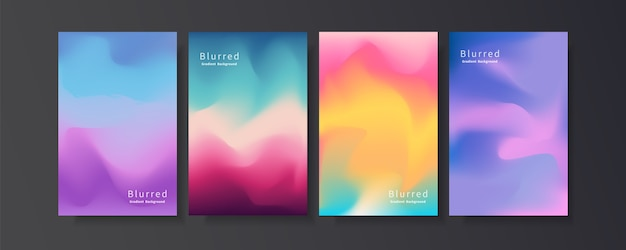 Abstract blurred gradient set