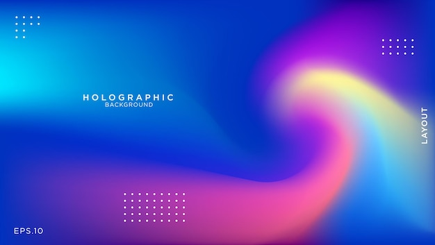 Abstract blurred holographic background