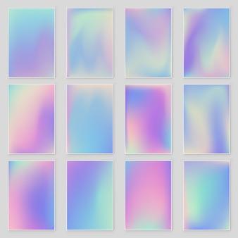 추상 흐리게 홀로그램 그라데이션 배경 현대적인 디자인을 설정합니다.