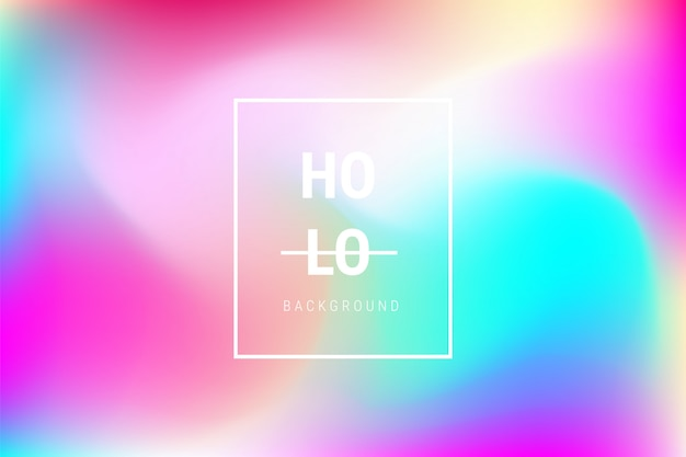 Abstract blurred holographic gradient effect background