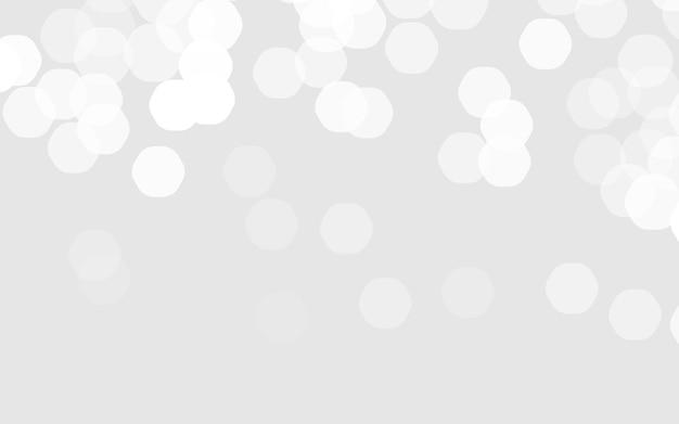 抽象的なぼやけたイラスト。ベクトルボケ背景。お祝いの焦点がぼけた白いライト。