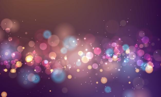 抽象的なぼやけた光要素