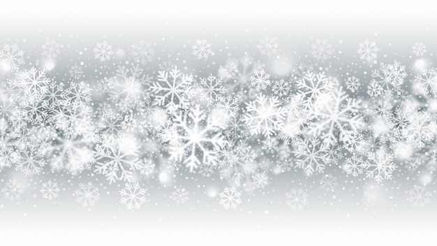 Abstract blurred motion falling snow blizzard effect