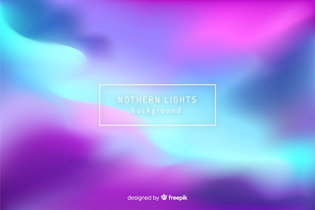 Abstract blurred northern lights background