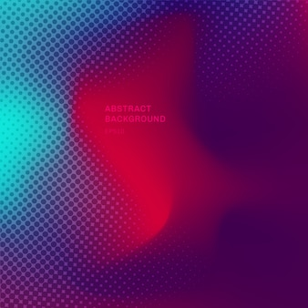 Abstract blurred vibrant color background and halftone texture