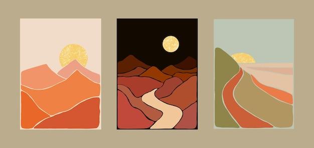 Абстрактный богемный художественный пейзаж