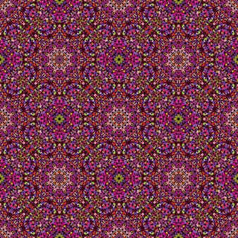 Abstract bohemian gem stone oriental pattern