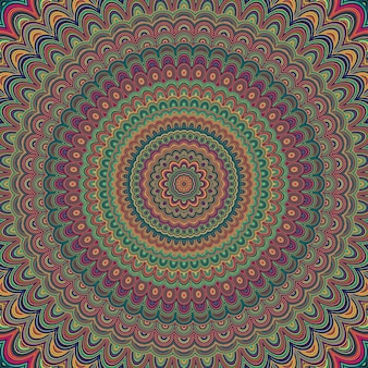 Abstract bohemian mandala ornament background