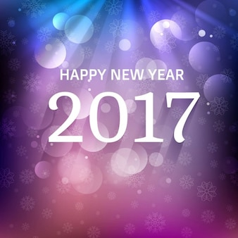 Abstract bokeh background of 2017