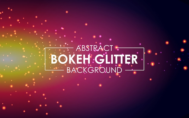 Abstract bokeh background with sparkling glitter