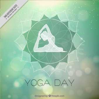 Abstract bokeh background of yoga