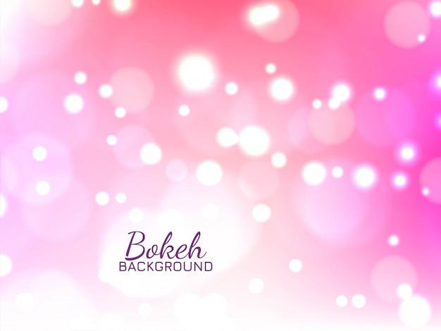 Bokeh astratto brillante sfondo rosa