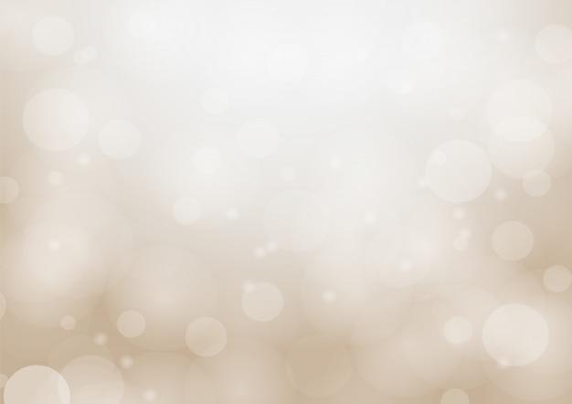 추상 bokeh 원과 부드러운 갈색 배경에 빛.