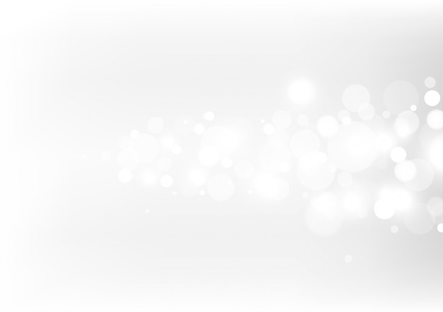 Abstract bokeh lights with soft light background.