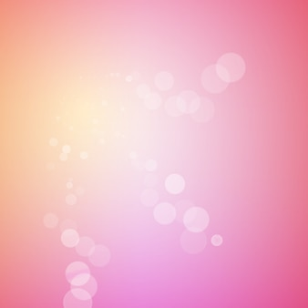 Abstract bokeh sparkles on blurred background