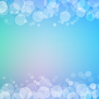 Abstract bokeh sparkles frame with blurred background