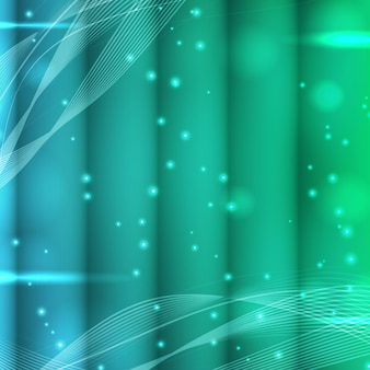 Abstract bokeh spotted background with glowing glitter light effects in turquoise and green colors vector illustration