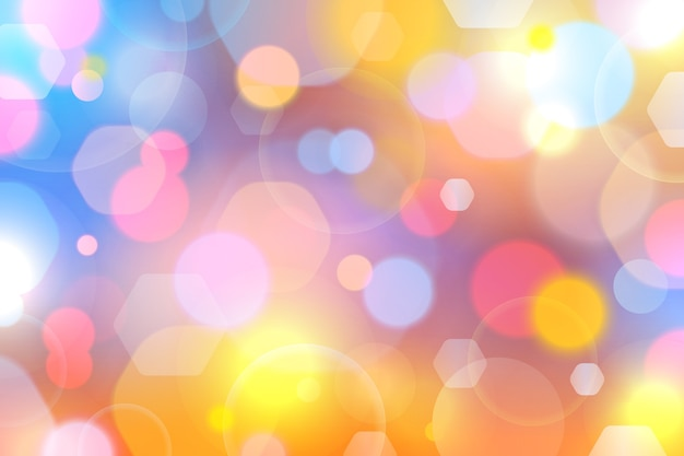 Abstract bokeh with soft light background