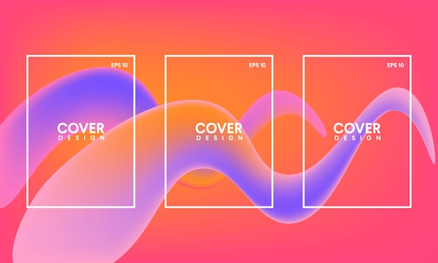 Abstract book cover template