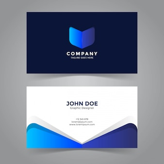 Abstract book symbol business card template