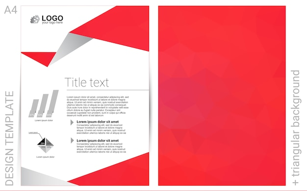 Abstract booklet on colored background with gradient
