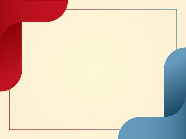 フレームと抽象的な境界線の背景