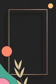 Абстрактный ботанический шаблон кадра