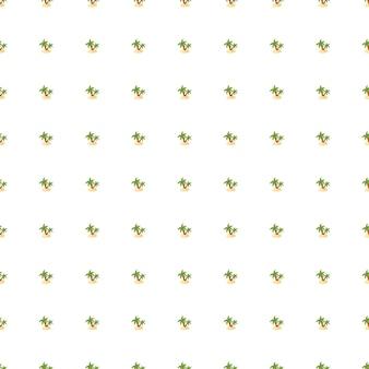 緑の小さなヤシの木と島のシルエットと抽象的な植物学熱帯シームレスパターン。孤立した背景。ファブリックデザイン、テキスタイルプリント、ラッピング、カバー用に設計されています。ベクトルイラスト。