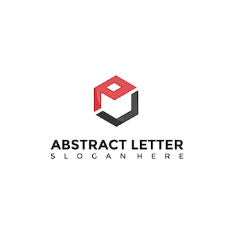 Abstract box logo template