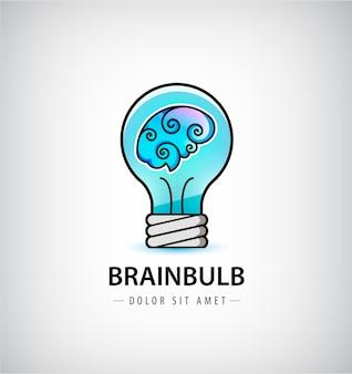 Абстрактный творческий знак мозгового штурма или символ