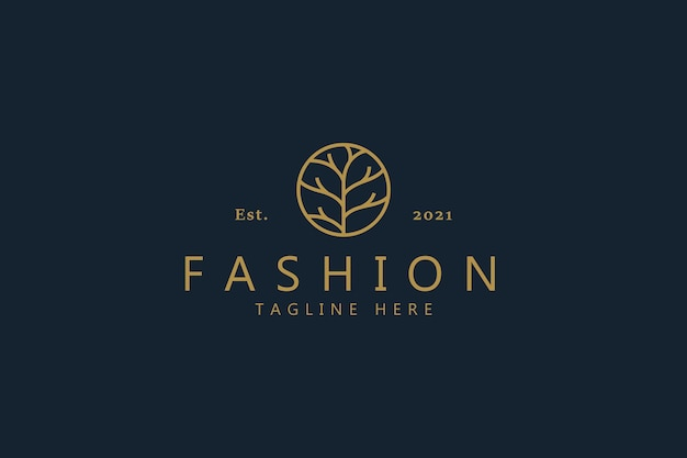Abstract branch logo for woman symbol business company like fashion, spa, cosmetic, beauty, garden, jewelry, organic, wedding, etc.