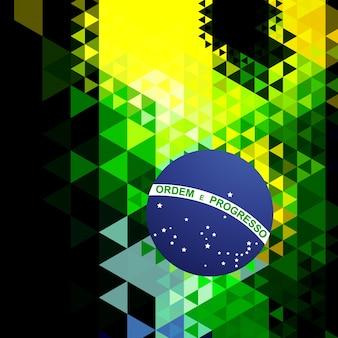 抽象的なスタイルのブラジルの旗のデザイン