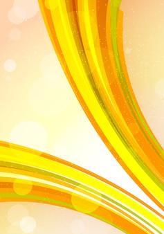 추상 밝은 배경. 주황색 줄무늬와 원. 일러스트, 벡터, 그래픽