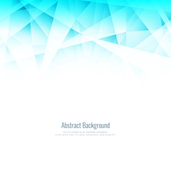 Abstract bright blue geometric polygonal background