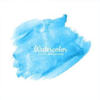 Abstract bright blue watercolor brush stroke design