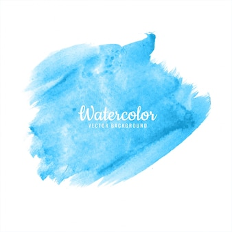 Abstract bright blue watercolor brush stroke design