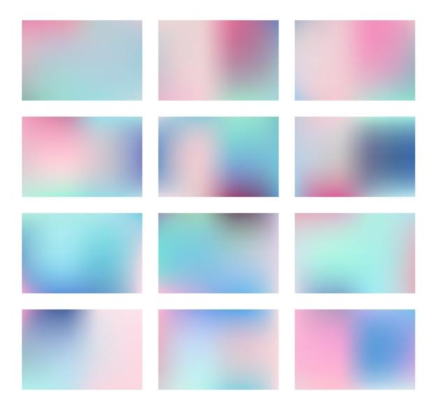 抽象的な明るいぼやけたグラデーションメッシュの背景