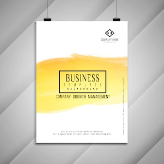 Abstract bright business brochure template design