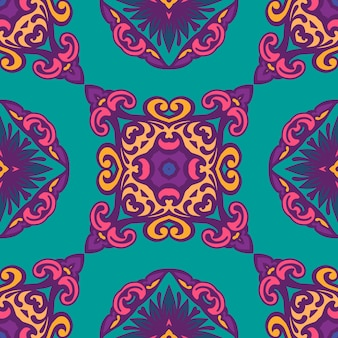 Абстрактный яркий декоративный стилизованный цветочный бесшовный фон