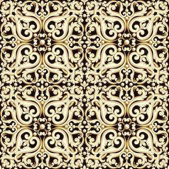 Abstract bright floral seamless pattern in brown color.