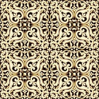 갈색 색상에서 추상 밝은 꽃 원활한 패턴입니다.