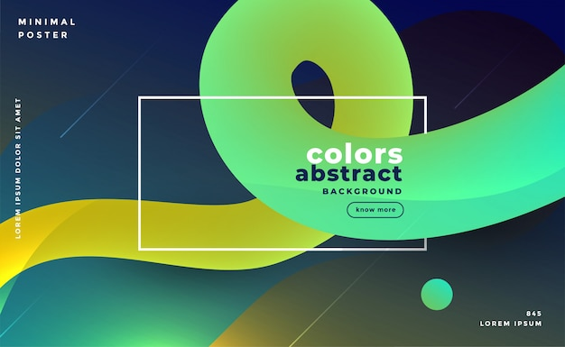 Abstract bright gradient fluid loop background