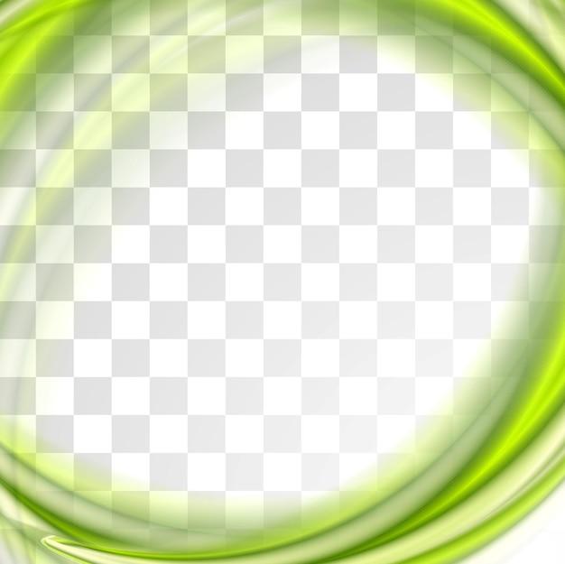 Абстрактный ярко-зеленые волны изолированные дизайн