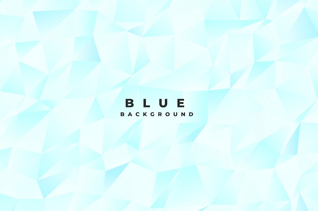 Abstract bright light blue low poly background
