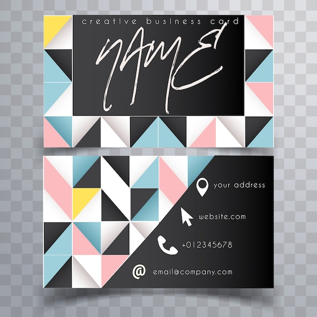 Abstract bright modern business card template