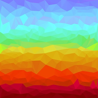 Abstract bright rainbow spectral colored polygonal triangular background for use in design for card, invitation, poster, banner, placard or billboard cover